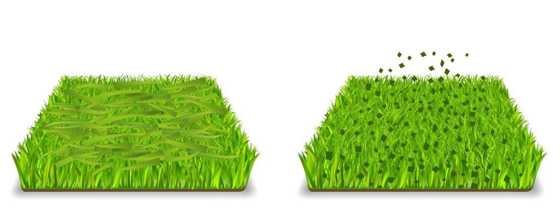 Met gras mulchen wordt de bodem bedekt met gemaaide gras wat fijn vermalen is tot kleine snippers. Dit is in tegenstelling tot traditioneel maaien.