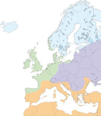 Click here for more information about climate zones in Europe and the Mediterranean