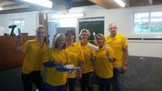 The Netherlands: Barenbrug employees paint riding school for people with severe disabilities