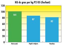 Droge stof opbrengst per KG fosfaat
