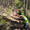 Carving and sculpting the tricky terrain of Wicks reserve - Australia